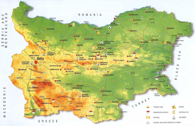 Bulgaria Map Bulgarian Map Eastern Europe Europe