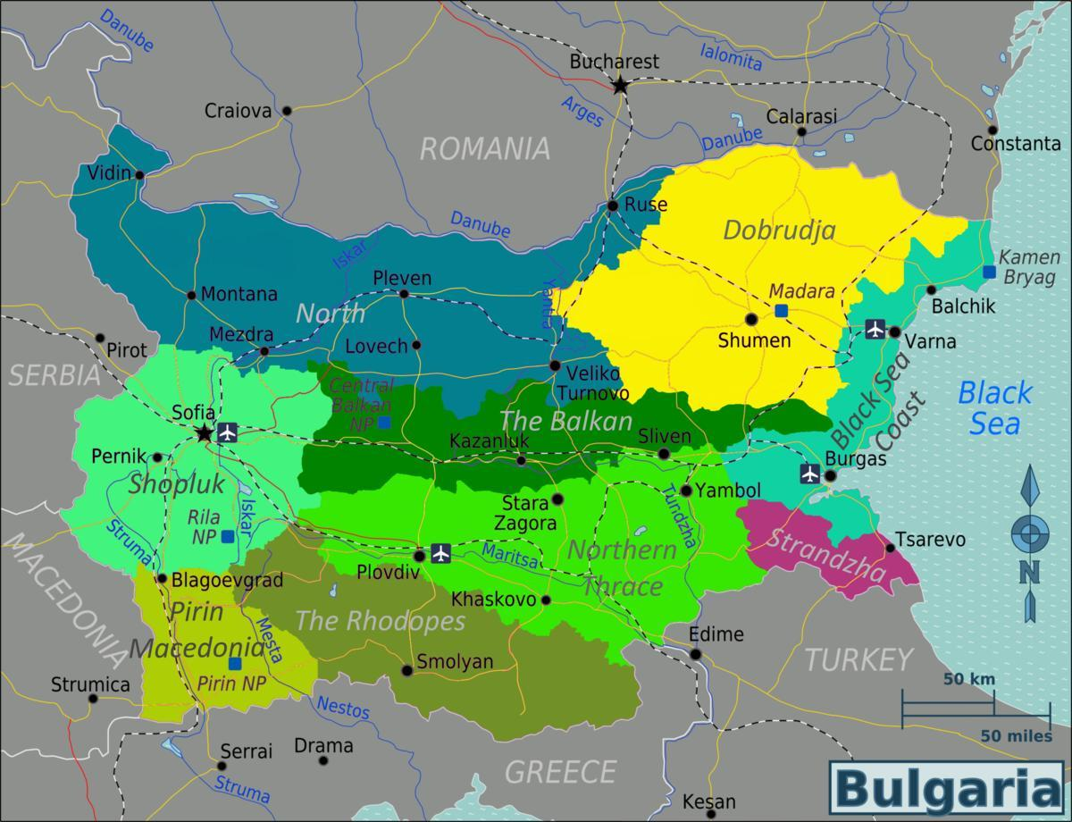 map of Bulgaria airports