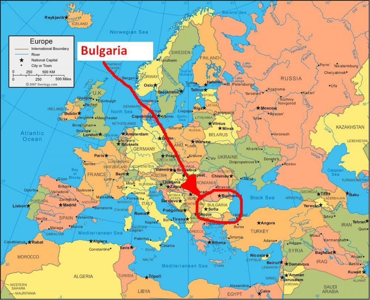 Map of Bulgaria and surrounding countries - Map Bulgaria ...