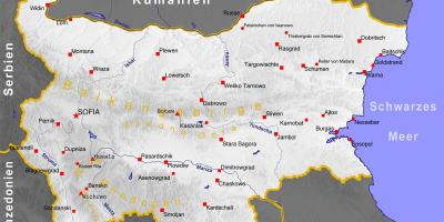 Bulgaria cities map