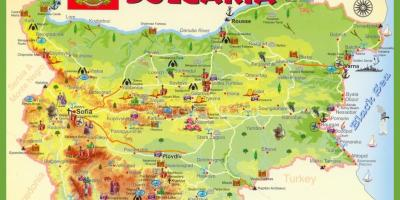 Bulgaria sightseeing map